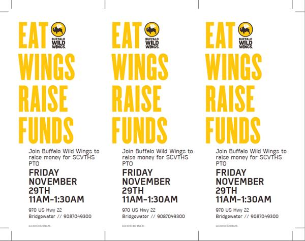 Buffalo Wild Wings Fundraiser Ticket