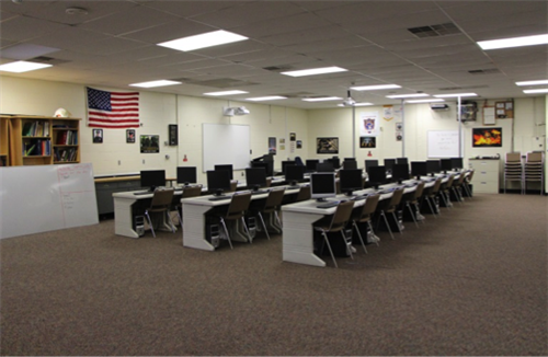 Law and Public Safety Classroom at Somerset County Vocational & Technical High School