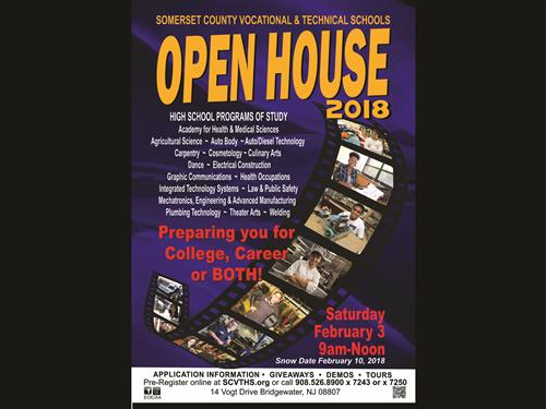 SCVTHS will host an OPEN HOUSE on February 3, 2018 from 9 am to 12 noon