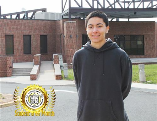 CJ MIRANDA CHOSEN STUDENT OF THE MONTH FOR APRIL