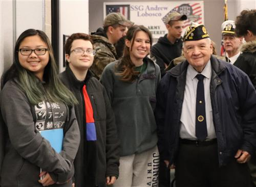 SCVTHS students with former Union County American Legion Commander John Blank