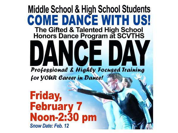SCVTHS DANCE DAY FOR MIDDLE & HS STUDENTS