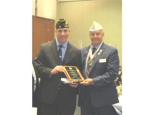SCVTHS INSTRUCTOR RECEIVES THE NJ 2019 AMERICAN LEGION EDUCATOR OF THE YEAR AWARD