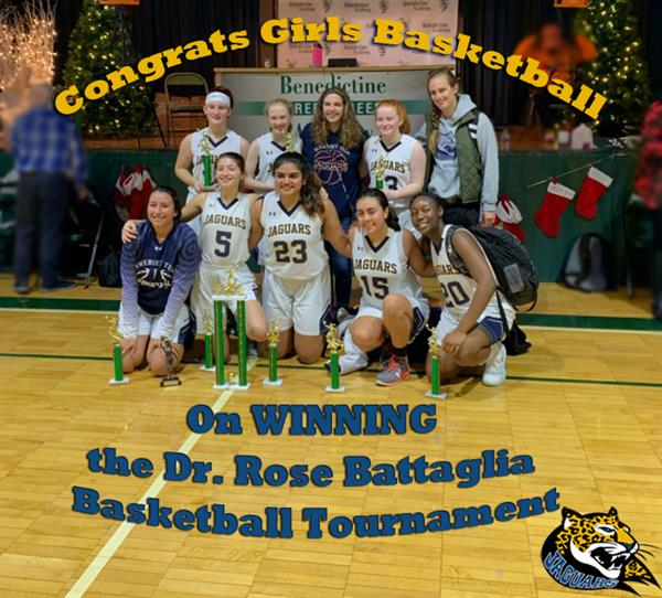 Congrats to our Girls Basketball Team who won our division in the Dr. Rose Battaglia Tournament!