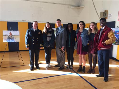 SCVTHS students visited newly-renovated barracks in honor of a fallen Navy Seal