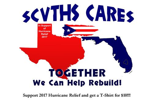 SCVTHS CARES–SUPPORT 2017 HURRICANE RELIEF & GET A T-SHIRT!