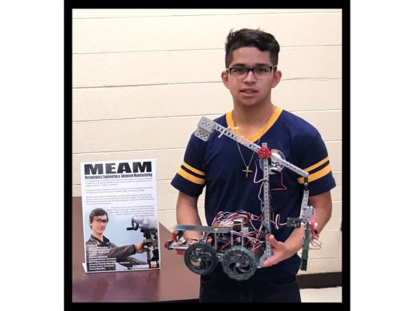 Julio Cesar Rivas-Ortiz, a junior in the MEAM Program was nominated by two instructors at SCVTHS.
