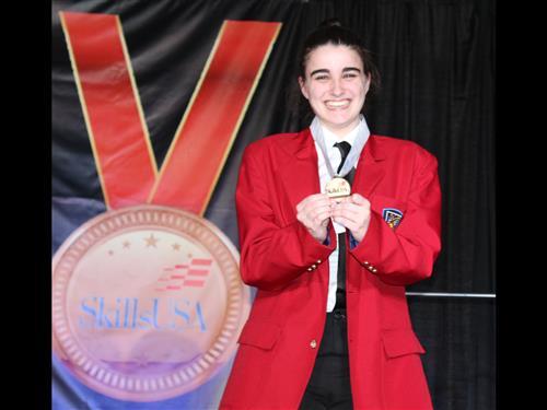 Gold Medal Winner at NJ Skills Championships