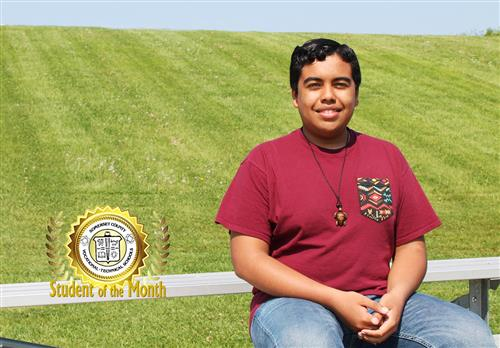 Steven Salmeron is SCVTHS Student of the Month for May 2018