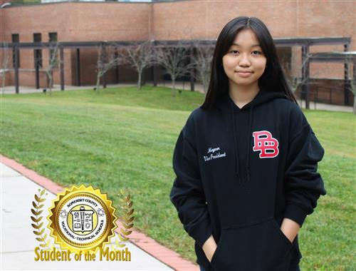 Megan Lam, the October 2020 Student of the Month at Somerset County Vocational & Technical High School