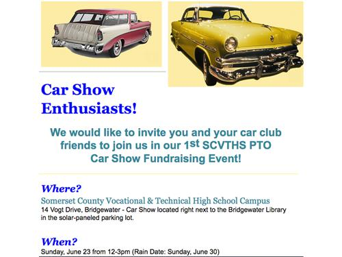 Join us on Sunday June 23 from 12 to 3 pm for our 1st SCVTHS PTO Car Show Fundraising Event!
