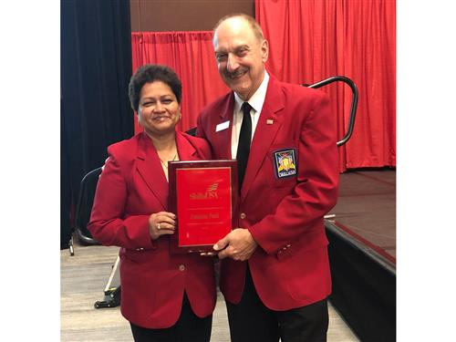 Pratima Patil receives award from SkillsUSA Executive Director during National Conference