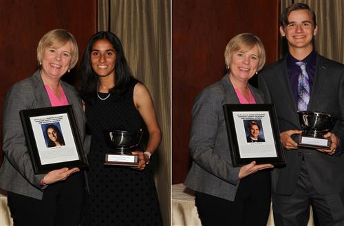 SCVTHS students Sonia Purohit and Evan Sapirman were honored as Scholar-Athletes