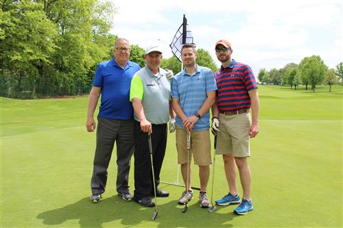 SCVTHS employees at the SkillsUSA Golf Classic at Raritan Valley Country Club in Bridgewater