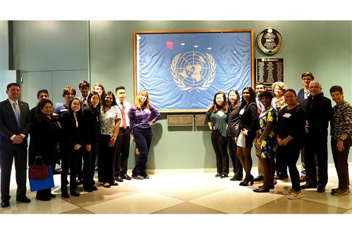 SCVTHS Staff and Students at UN