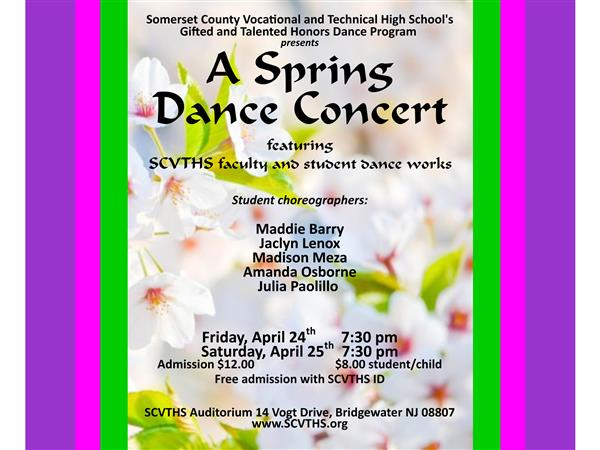 Faculty & Student Choreographers will present their Dance Works in the school Auditorium