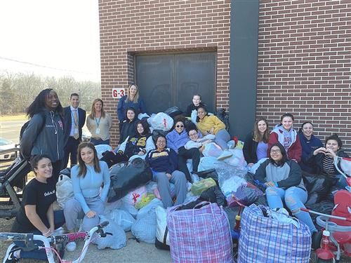 SCVTHS SOFTBALL TEAM HOLDS SUCCESSFUL CLOTHING DRIVE FUNDRAISER