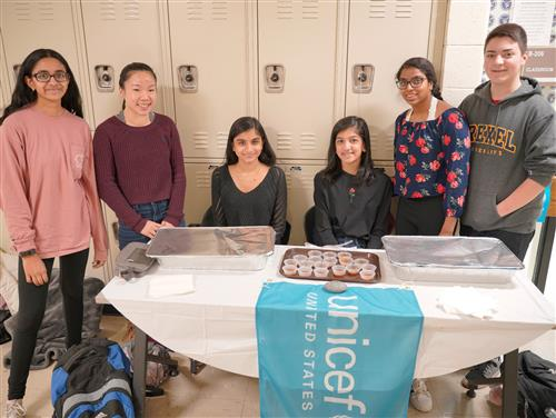 The UNICEF Club at SCVTHS has been raising funds to help children