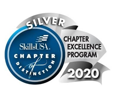 SkillsUSA Silver Chapter of Excellence Program 2020 logo